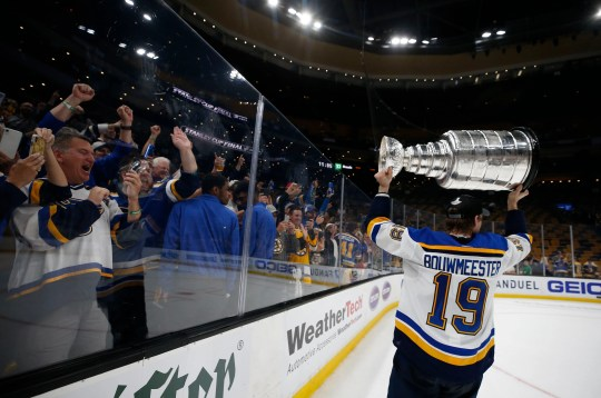 Next up was defenseman Jay Bouwmeester, who had played more than 1,200 games without a Cup.