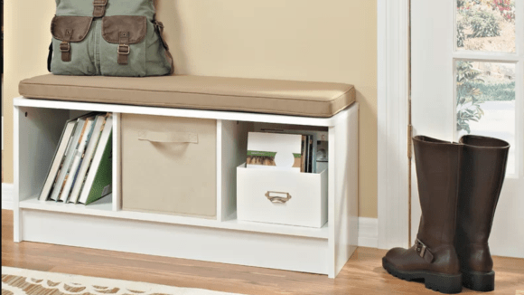 A functional piece for any entryway.