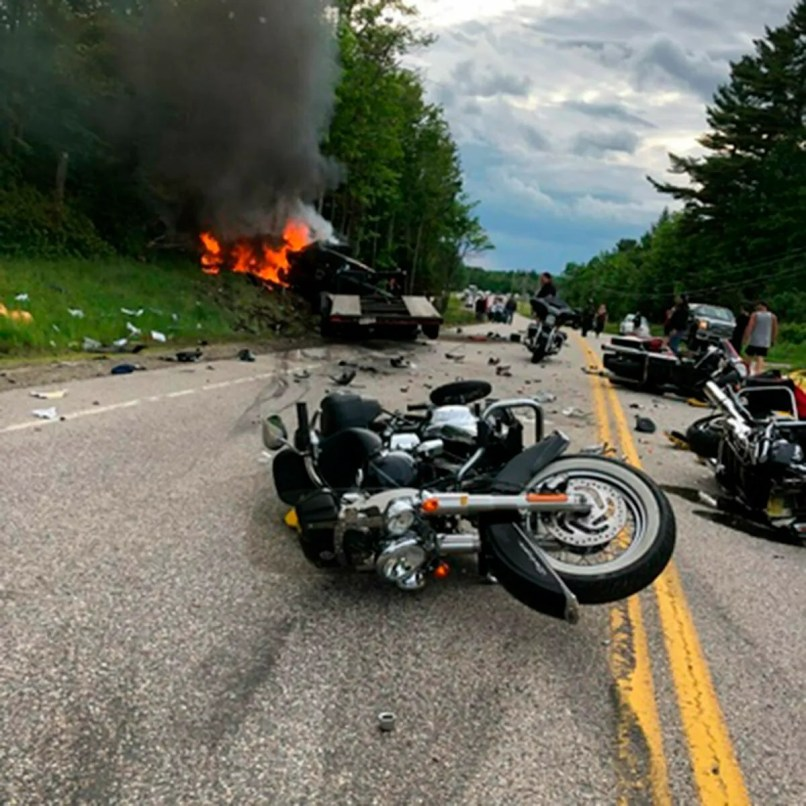 Motorcycle Crash Truck Driver Charged