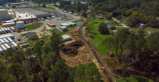 Pollution from the former Burlington Plant in Cheraw contaminated land over a three mile area seen Sept. 20, 2018. This may have gone on for decades. The EPA has conducted a Superfund cleanup to try and eliminate PCB's and other contaminants from the soil downstream.