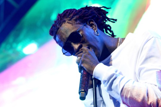 Young Thug performs at the STAPLES Center Concert, sponsored by Sprite, during the 2017 BET Experience at Staples Center on June 24, 2017 in Los Angeles, California.