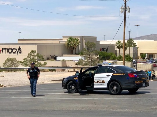 Police close off the Cielo Vista Mall Parking lot in El Paso, on Aug. 3, 2019, after reports of a deadly shooting.