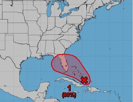Tropical storm warnings issued in the Bahamas as system cranks up
