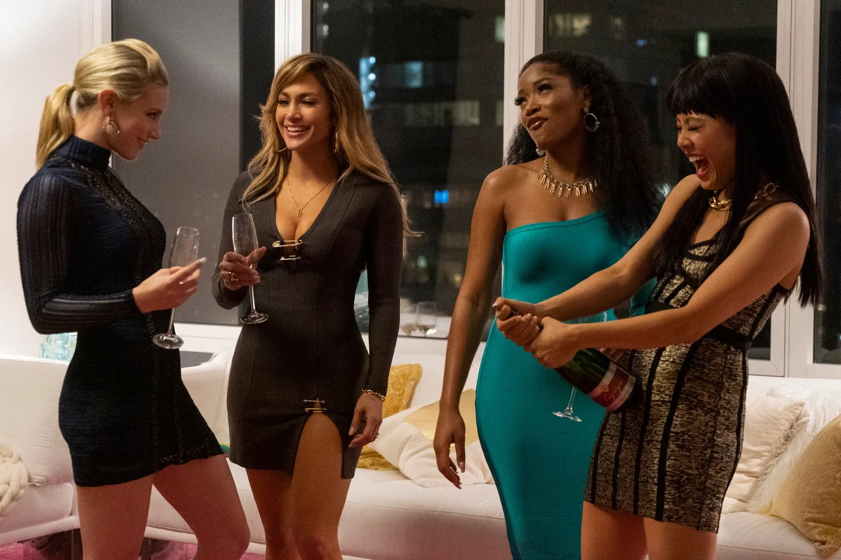"""""""Hustlers"""" follows a group of former strippers who navigate the business world after the 2008 economic collapse."""