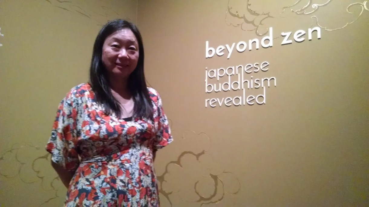 "Midori Oka, guest curator of the ""Beyond Zen"" exhibit"
