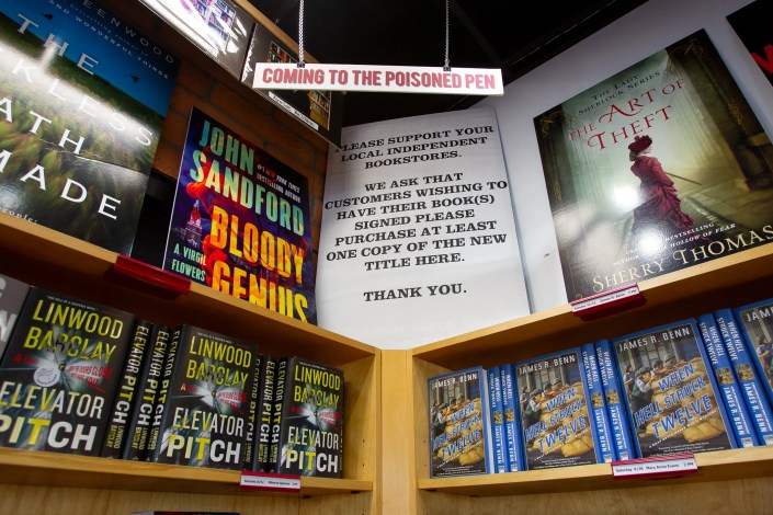 Poisoned Pen Bookstore sells books to customers all over the world, September 24, 2019.