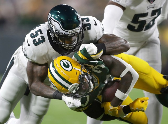 Packers' Jamaal Williams holds no grudge against Eagles' Derek Barnett for hit that sent him to hospital