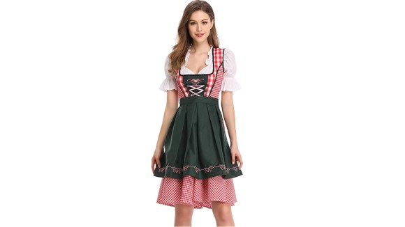 Hit up Oktoberfest and Halloween in this traditional beer garden garb.