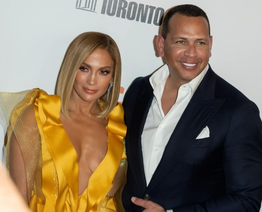 "Jennifer Lopez and husband Alex Rodriguez arrive for screening of ""Hustlers' at Toronto International Film Festival in Toronto, Sept. 7, 2019."