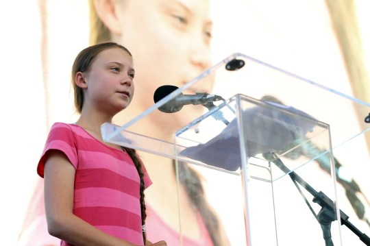 Greta Thunberg speaks at a rally on Friday Sept. 20, 2019 in New York.