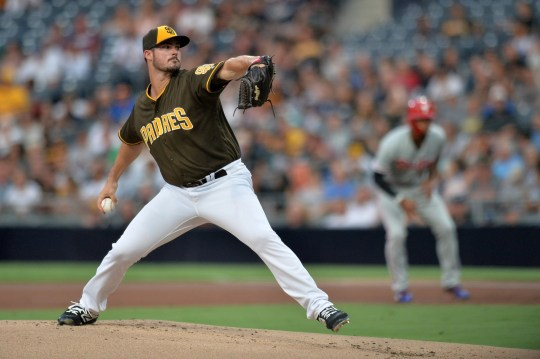 The Padres' Jacob Nix last played in the major leagues in 2018, posting a 7.02 ERA in 42 1/3 innings.