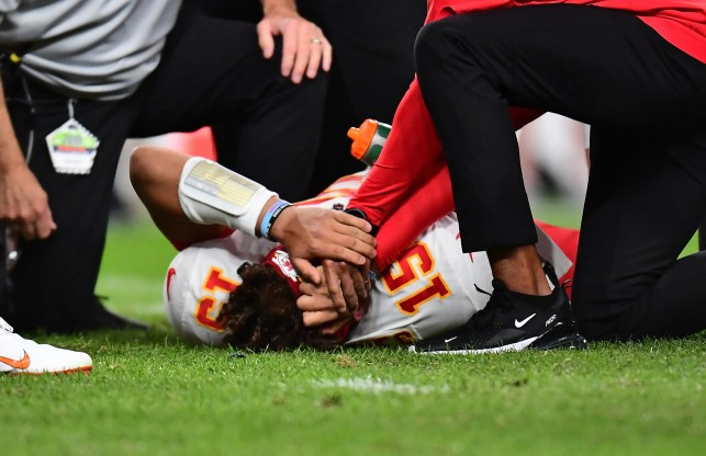 Reigning NFL MVP Patrick Mahomes suffers knee injury in Chiefs' game vs. Broncos