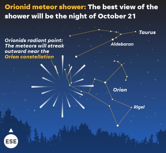 Image result for orionid meteor shower 2019