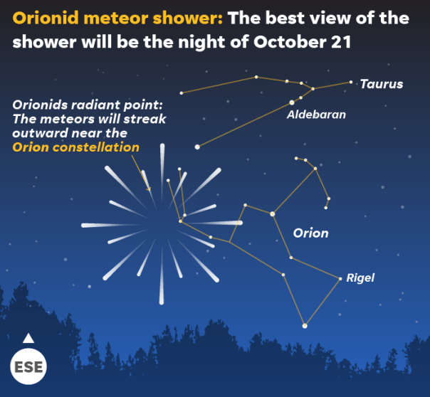 Image result for orionid meteor shower 2019