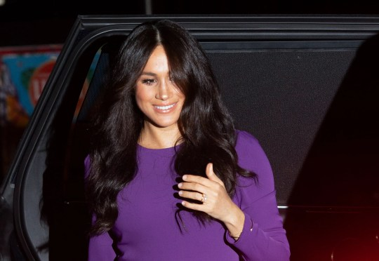 Duchess Meghan of Sussex arrives for the One Young World Summit at the Royal Albert Hall in London, on Oct. 22, 2019.