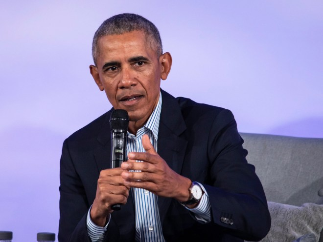 Former President Barack Obama speaks during the Obama Foundation Summit at the Illinois Institute of Technology in Chicago, Tuesday, Oct. 29, 2019.