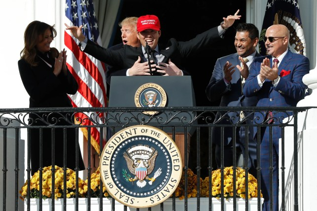 (Most) Nationals showed support and visited Trump, White House to celebrate championship