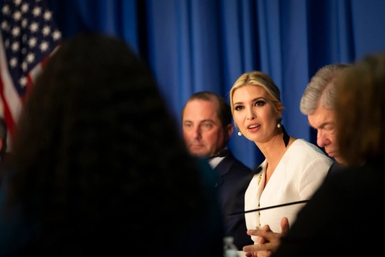 """Ivanka Trump visits Metropolitan Community College in Kansas City on Oct. 10 for a roundtable. """"Child care is an undisputed work-related expense for most of America's working families,"""" she said at the Kansas City event."""