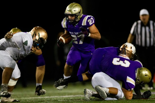 Notre Dame Prep running back Dominick Mastro runs the ball during the 5A state semifinals between Notre Dame Prep and Campo Verde at North Canyon High School in Phoenix on Friday, Nov. 22, 2019.