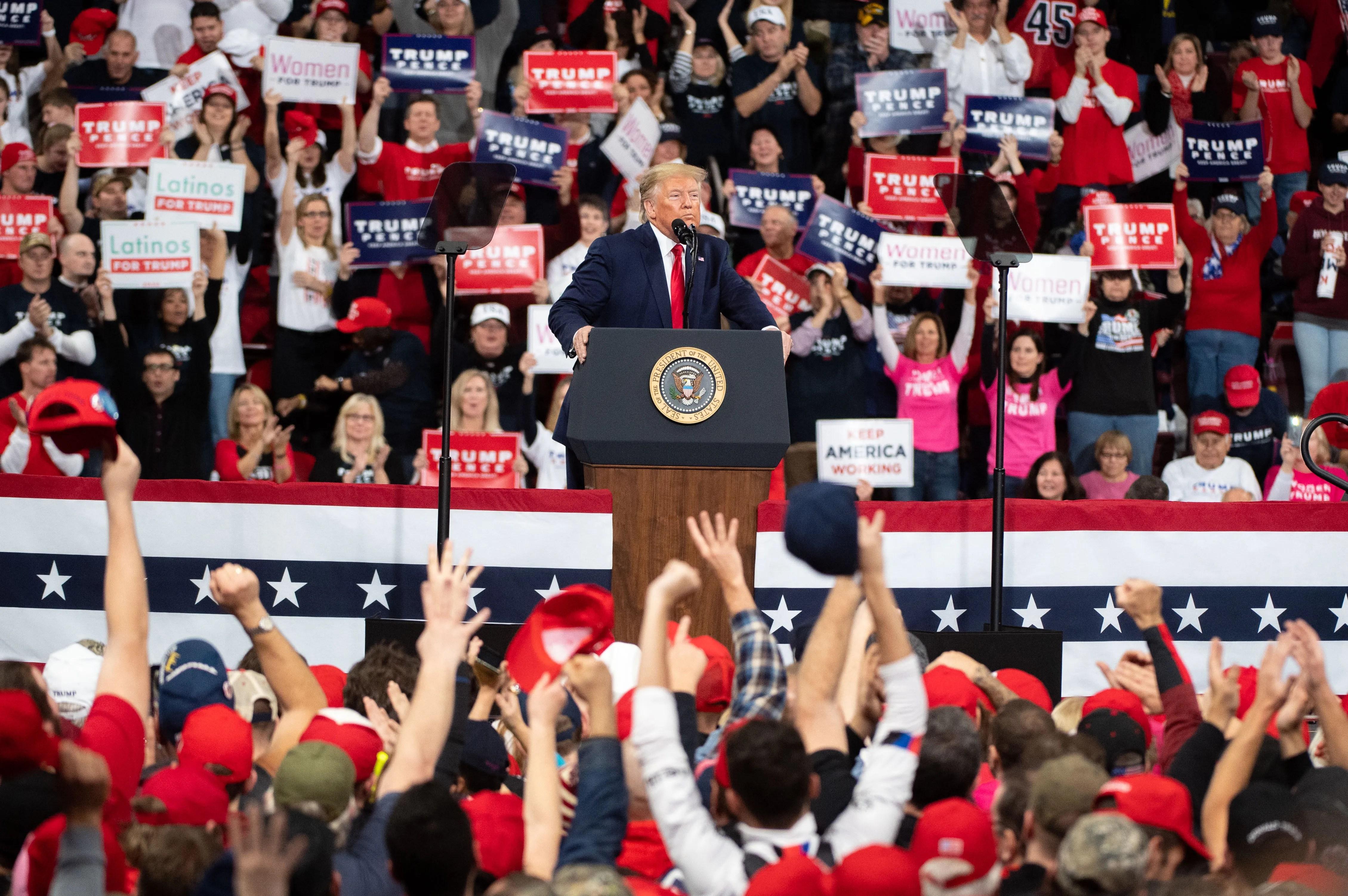 President Trump in Hershey Pa