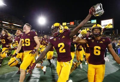 ASU wide receiver Brandon Aiyuk (2) announced Sunday that he is skipping the Sun Bowl to prepare for the NFL draft. Aiyuk made All Pac-12 first team as a senior.