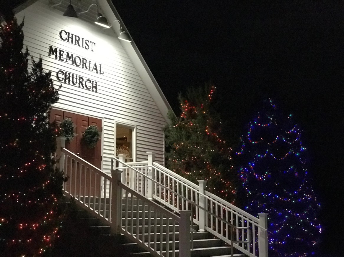 Christ Memorial Church gets into the Christmas spirit by decorating their trees. December 2019