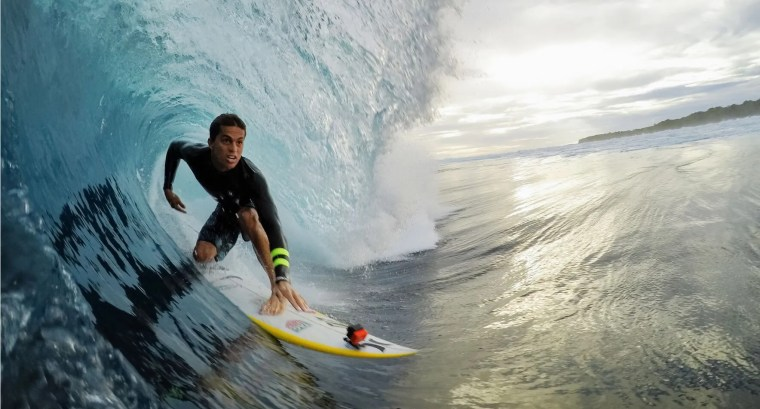 GoPro surfer