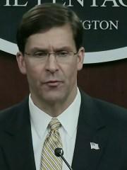 U.S. Defense Secretary Mark Esper speaks to reporters about potential war with Iran