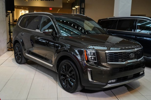 The 2020 Kia Telluride -- seen hereon display after being named the 2020 North American Utility of the Year at the TCF Center in Detroit on Monday, January 13, 2020 -- was named as a Consumer Reports Top Pick.