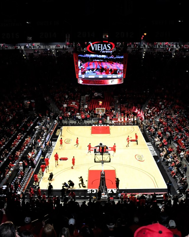 Jan 18, 2020; San Diego, California, USA; A general of the Viejas Arena before a game between the Nevada Wolf Pack and San Diego State Aztecs. Mandatory Credit: Kirby Lee-USA TODAY Sports