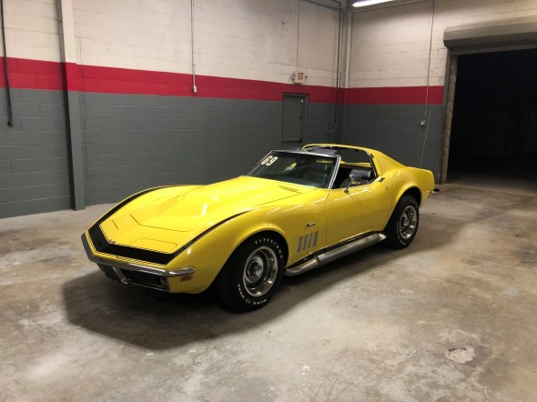 "This 1969 Corvette will be given away as one of the ""Lost Corvettes"" in a promotion by the Corvette Heroes to benefit the National Guard Educational Foundation."