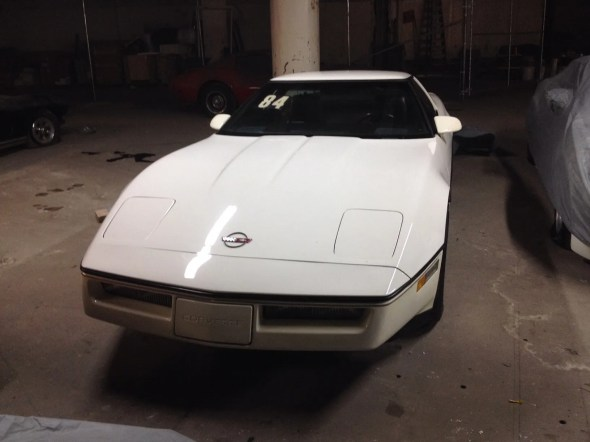 "This 1984 Corvette will be given away as one of the ""Lost Corvettes"" in a promotion by the Corvette Heroes to benefit the National Guard Educational Foundation."