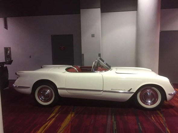 "This 1953 Corvette will be given away as one of the ""Lost Corvettes"" in a promotion by the Corvette Heroes to benefit the National Guard Educational Foundation."
