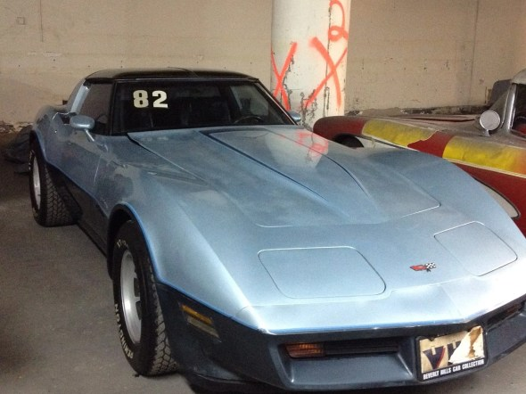 "This 1982 Corvette will be given away as one of the ""Lost Corvettes"" in a promotion by the Corvette Heroes to benefit the National Guard Educational Foundation."