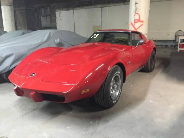 "This 1975 Corvette will be given away as one of the ""Lost Corvettes"" in a promotion by the Corvette Heroes to benefit the National Guard Educational Foundation."