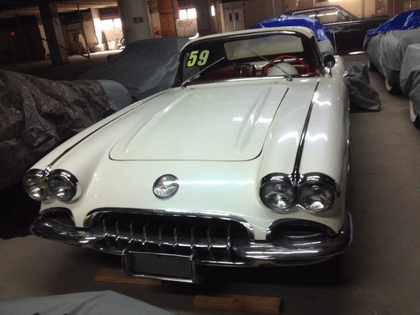 "This 1959 Corvette will be given away as one of the ""Lost Corvettes"" in a promotion by the Corvette Heroes to benefit the National Guard Educational Foundation."