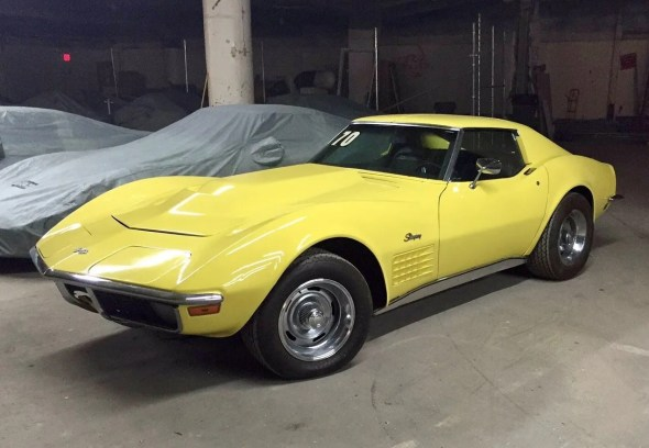 "This 1970 Corvette will be given away as one of the ""Lost Corvettes"" in a promotion by the Corvette Heroes to benefit the National Guard Educational Foundation."