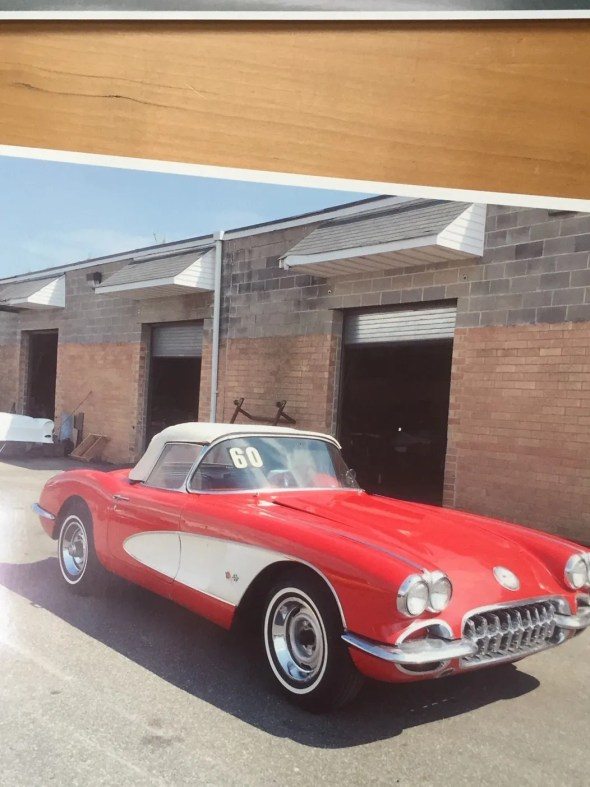 "This 1960 Corvette will be given away as one of the ""Lost Corvettes"" in a promotion by the Corvette Heroes to benefit the National Guard Educational Foundation."