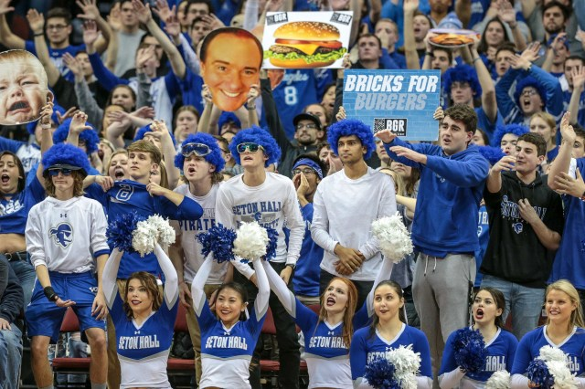 Jan. 29: Seton Hall fans cheer during the second half against DePaul at Prudential Center.