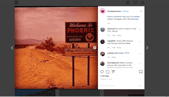 An Instagram post from the City of Phoenix.