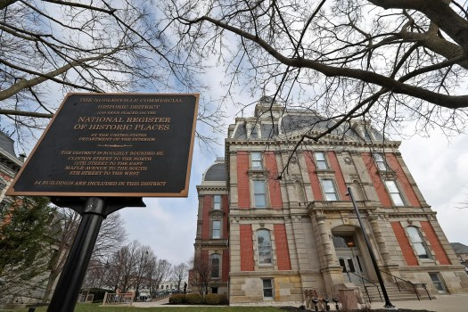 This is the historic old Hamilton County Courthouse in downtown Noblesville, Thursday, March 12, 2020.