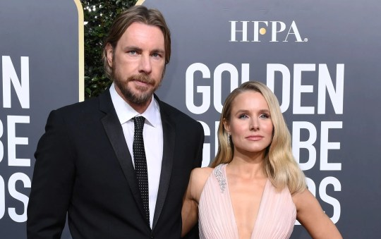 Dax Shepard broke a bunch of bones in a motorcycle accident over the weekend. Wife Kristen Bell says she's just shaking her head.