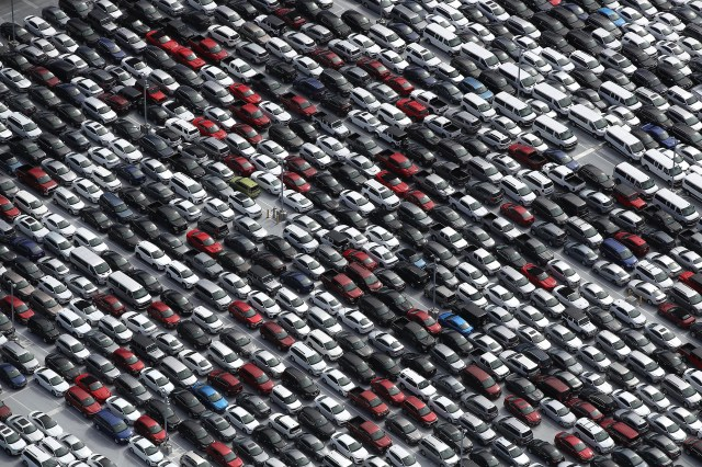 A surplus of rental cars sit idle at the Rental Car Center at San Diego International Airport on March 20, 2020 in San Diego, California. Tourism in San Diego has slowed dramatically due to the ongoing threat of the coronavirus outbreak.