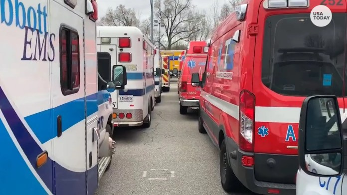 500 paramedics and paramedics traveled to New York from across the country to join the FDNY on the front line of the city's response to COVID-19.