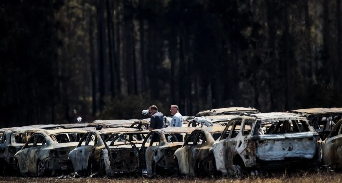 Aftermath Of Fire Near Rsw Airport That Destroyed Or Damaged More Than 3000 Rental Vehicles