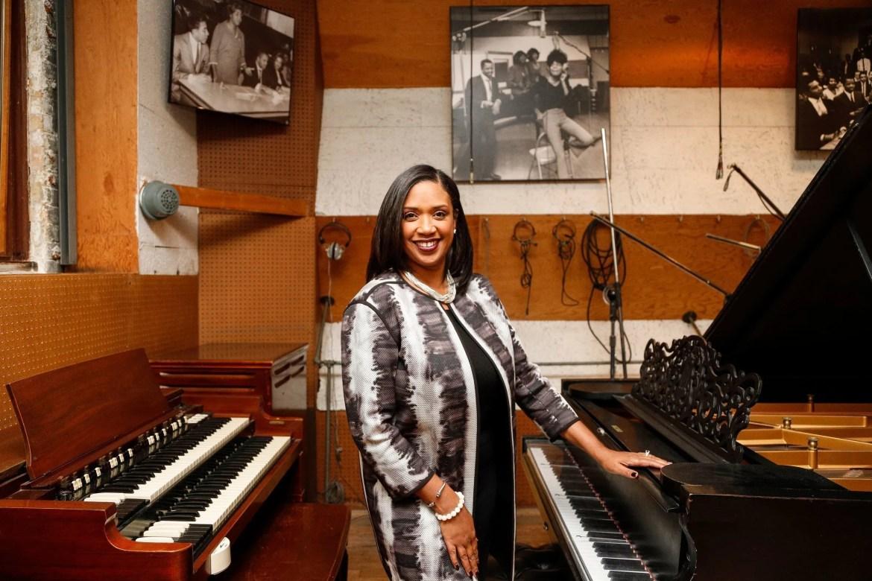 Robin Terry, présidente et PDG du Motown Museum, dans le Studio A de Hitsville à Detroit, le mardi 13 novembre 2018.