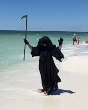 Florida attorney Daniel Uhlfelder visited beaches in Walton County, Florida to protest what he called the premature reopening of state beaches amid the coronavirus pandemic .