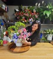 Sarah Morrison recently reopened her flower shop in Tuscaloosa, Alabama, just in time for Mother's Day. She continues to take precautions by limiting the number of customers authorized in her shop, but overall, she is happy to be able to restart her business after the losses suffered due to the stoppages of the coronavirus.