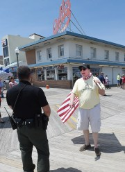A rally to reopen the boardwalk and Rehoboth Beach beach was held on Saturday, May 16 at Bandstand in downtown Rehoboth Beach with more than 100 protesters present.