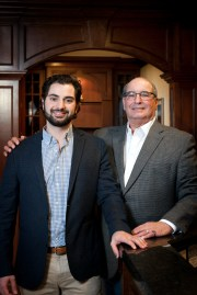 Anthony Bosco, left, is project manager and son of Don Bosco, founder of Bosco Building Inc., a custom home builder in West Bloomfield, Michigan. He built the Bloomfield Hills home for Lions quarterback Matthew Stafford.